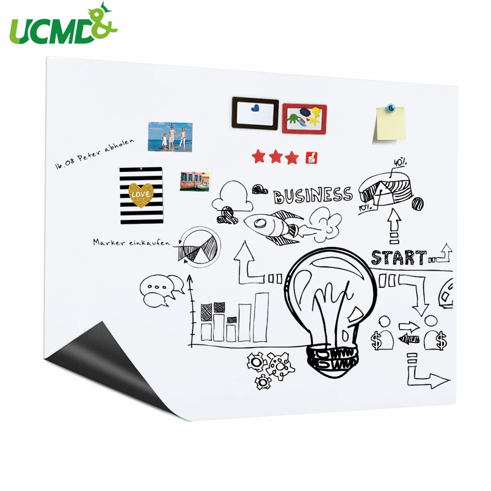 Nano Traceless Magnetic Whiteboard Holding Magnets Decor Wall Sticker Office Message Erasable Painting Graffiti Teaching Board