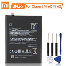 XiaoMi 100% Nuovo Autentico Batteria di Ricambio BN36 per Xiaomi Mi 6X Mi A2 MiA2 Originale 3010mAh Batteria Del Telefono