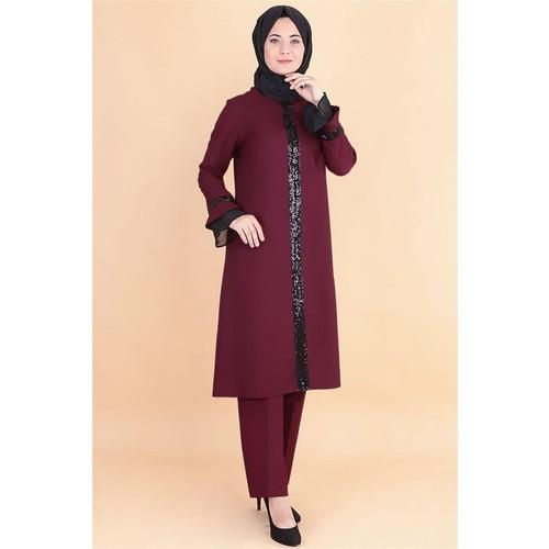 Muslim Woman Clothes Turkey 2 In 1 Spring/Summer New Season Tunic Pants Lux Dual Set Large Size Casual Ensemble Femme Musulmane Tapis De Prière Islam Robe Arabe Enfants Fille Hijab Tenu Aid Vestidos Musulmanes Mujer