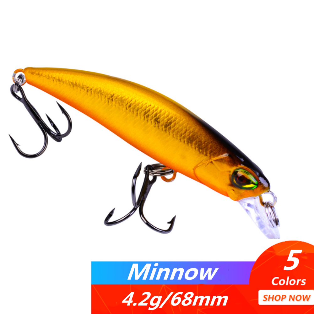 1pcs Minnow Fishing Lure 68mm 4.2g Isca Artficial Hard Bait Fish Wobbler Floating Jerkbait With 8# Hooks  Peche Fishing Tackle
