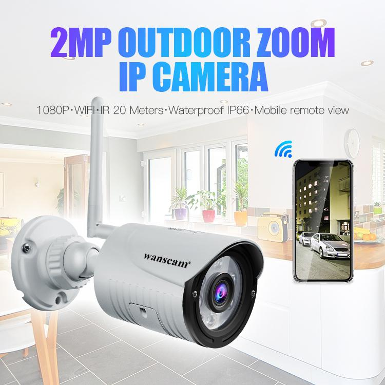 Wanscam K22 Camera HD 1080P 2MP 4x Zoom Wireless Security  IP Camera Waterproof Night Vision IR-Cut H.264 Video Night Vision