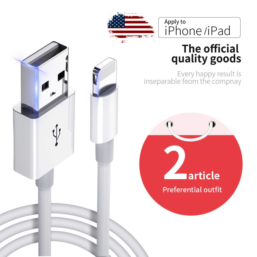 Meide usb cable for iphone cable 11 pro max Xs Xr X 8 7 6 plus 6s 5 s plus ipad mini 4 fast charging cables mobile phone charger