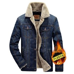 Image 2 - 2020 בתוספת גודל M 6XL חורף גברים של אופנה מזדמן סגנון צמר חם קאובוי מעיל מעיל גבר אביב סתיו ג ינס כחול מעילי מעילים