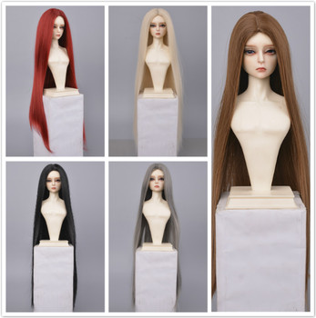 1/3 1/4 1/6 1/8 bjd sd doll long straight hair high temperature fiber hair blue doll wig multi-color doll accessories doll accessories 1 3 1 4 1 6 bjd wig doll hair lon straight girl wig multicolour available high wire faux fur wig fb12