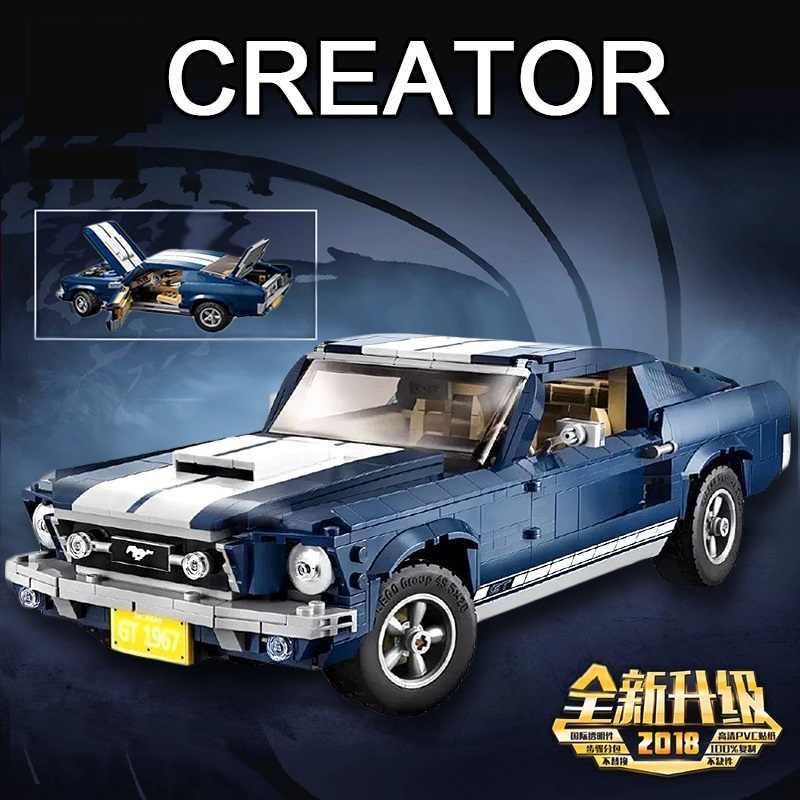 2019 nowy twórca Expert Ford Mustang kompatybilny Legoinglys 10265 zestaw klocki klocki montowane DIY zabawki prezenty urodzinowe