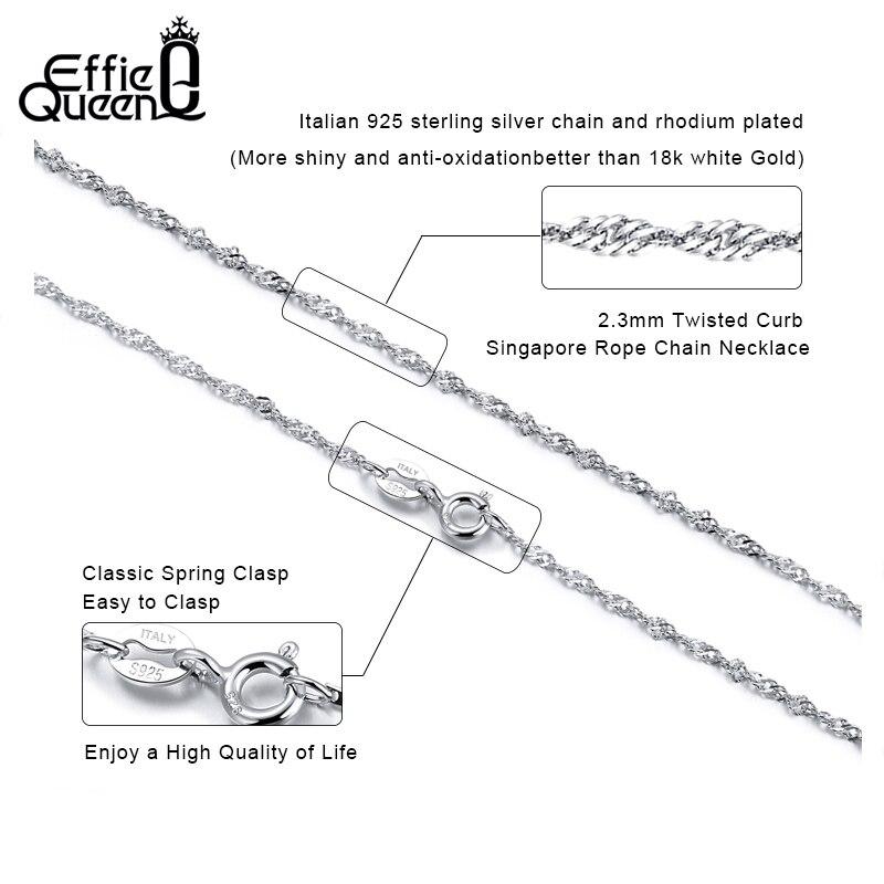 Effie Queen 40cm 45cm 50cm 925 Sterling silver hummerlås justerbar - Fina smycken - Foto 2