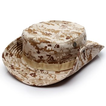 Camouflage Tactical Cap Military Boonie Hat US Army Caps Camo Men Outdoor Sports Sun Bucket Cap Fishing Hiking Hunting Hats 60CM 3