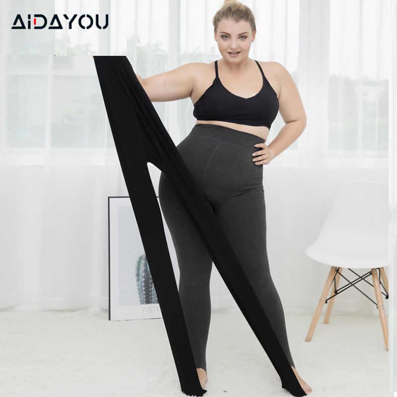 Women Leggings Plus Size Thick High Waist Pants Women Winter Warm Black Leggings