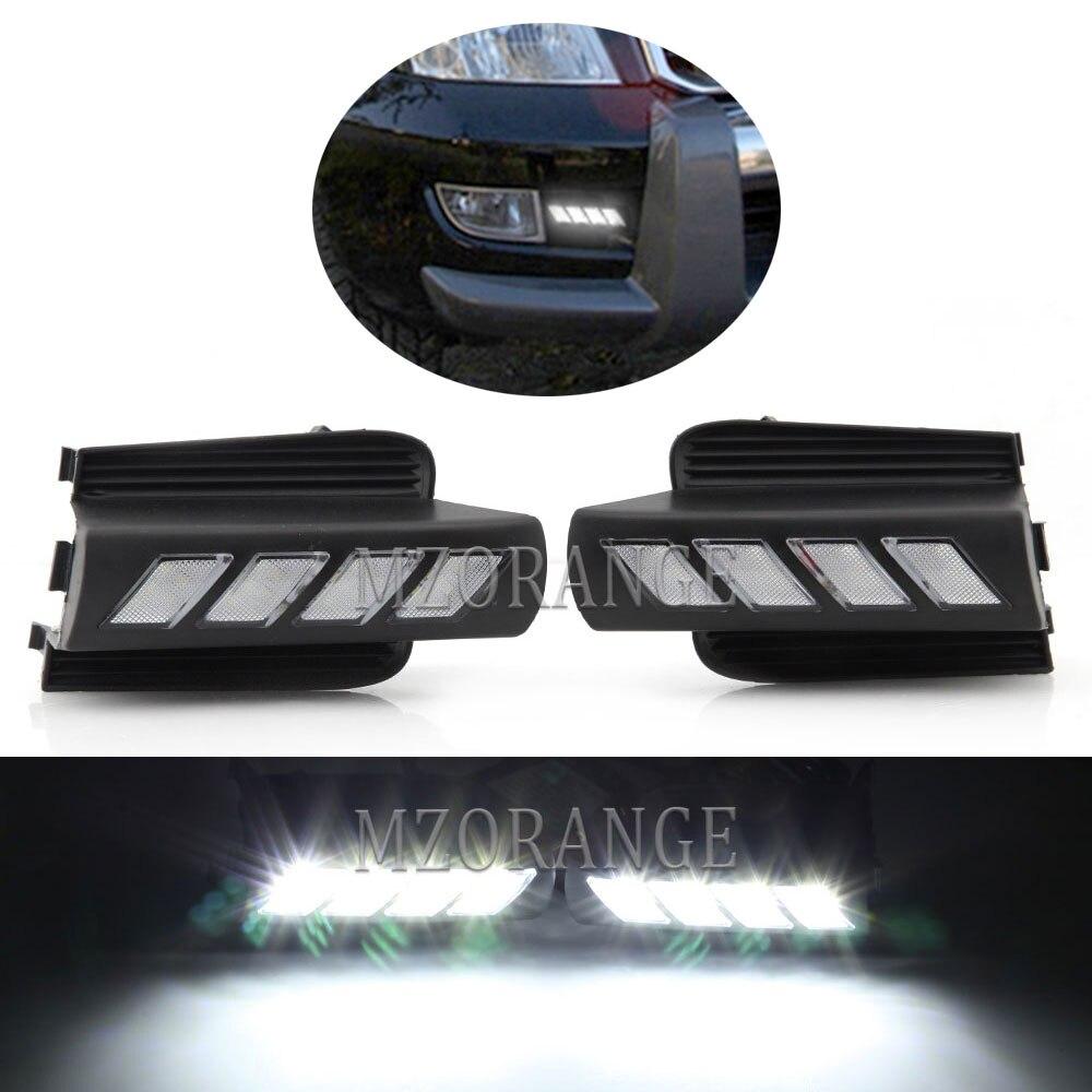 1 set LED DRL für Toyota Prado 120 Land cruiser LC120 FJ120 2003-2009 LED Scheinwerfer Fahren Lampe mit controller Kabelbaum