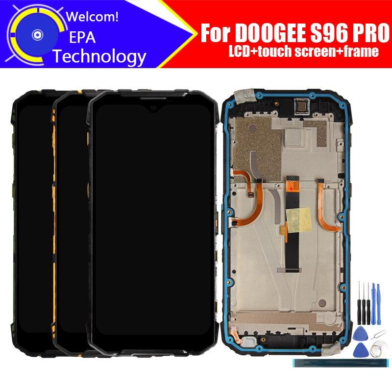 ЖК-дисплей 6,22 дюймов DOOGEE S96 PRO + дигитайзер сенсорного экрана + рамка в сборе, 100% Оригинальный ЖК-дисплей + сенсорный дигитайзер для S96 PRO + Инстр...