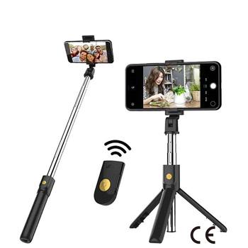Certyfikat CE kijek do Selfie Bluetooth pilot zdalnego sterowania statyw Handphone na żywo ramka na fotografię statyw do aparatu samowyzwalacz artefakt pręt tanie i dobre opinie Z tworzywa sztucznego CN (pochodzenie) Smartfony