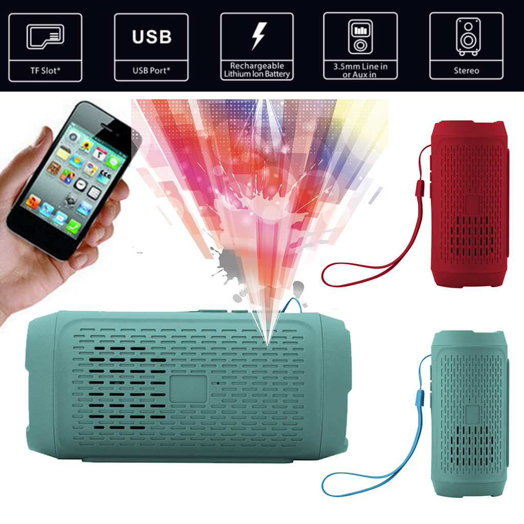 Shockproof Portable FM Stereo Wireless Bluetooth Speaker FITS Smart Phone Tablet