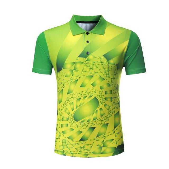 Профессиональная быстросохнущая рубашка для игры в бадминтон для мужчин и женщин, теннисная футболка s, спортивная рубашка поло для гольфа, футболка для пинг-понга-1