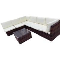 SOKOLTEC High end outdoor sectional sofas teak frame patio garden furniture rattan wicker sofa sets OP2450