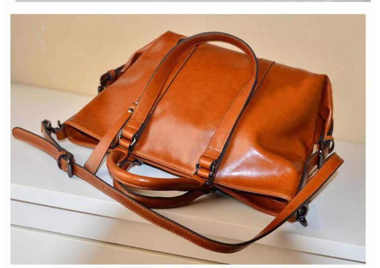 Luxe femmes en cuir véritable sacs à main dames rétro élégant épaule sac de messager en cuir de vache à la main femmes sacs Design C1203
