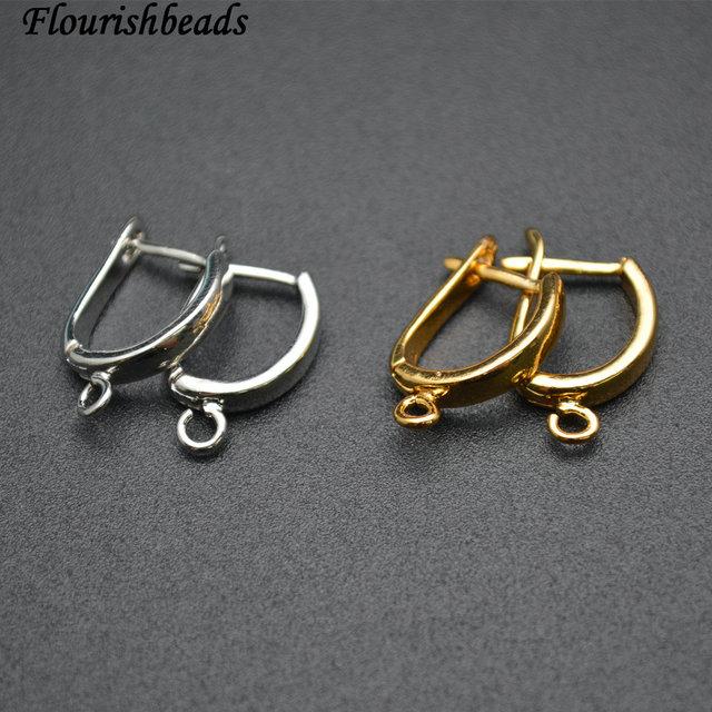 Nickle Free Anti rust color Plain Metal Earring Hooks Jewelry Findings 50pc Per Lot