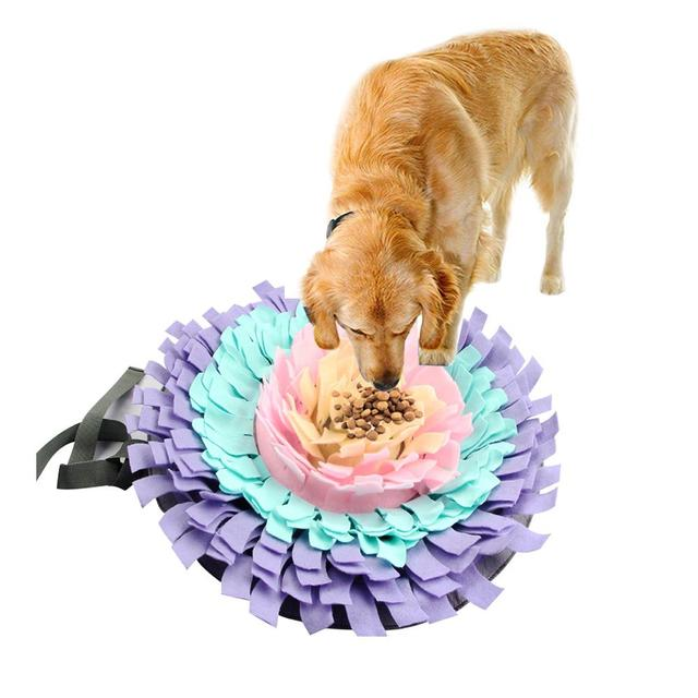 Dogs Snuffle Mat Pet Leak Food Anti Choking Mat Cat Dog Training Blanket Nose Work Toy Pet Slowing Feeding Intelligence Mat 2