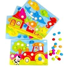 Горячая ручка гриб иглы цвет Когнитивная сопряжение доска LCM06 ребенка раннего обучения игрушки