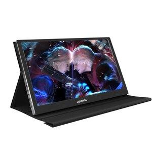 Monitor portátil, pc 15.6 polegada hdmi usb tipo c 1080p 4k hd computador lcd monitor de jogos ips tela para ps4 switch xbox