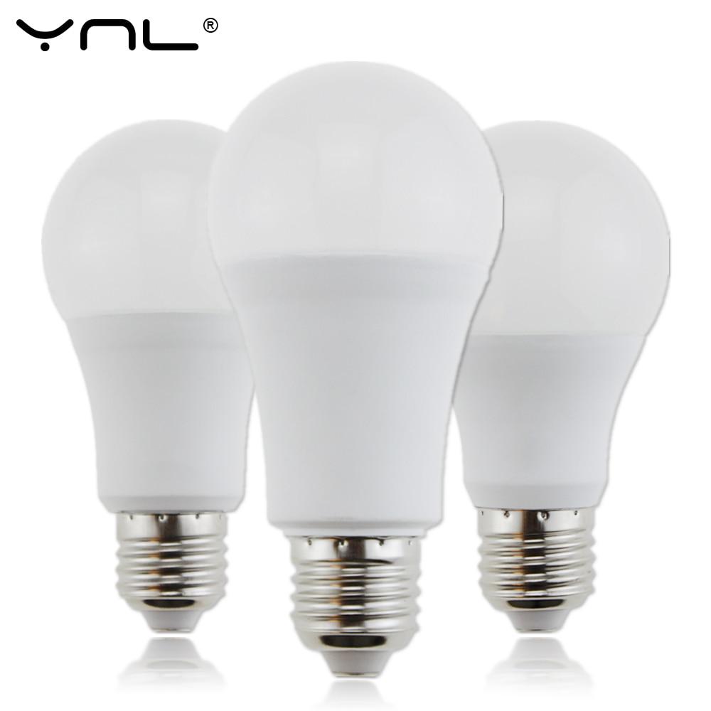 Bombillas E27 LED Light Bulb 220V 18W 15W 12W 9W 6W 3W AC 220V Top Quality Ampoule Lampada LED E27 Lamp