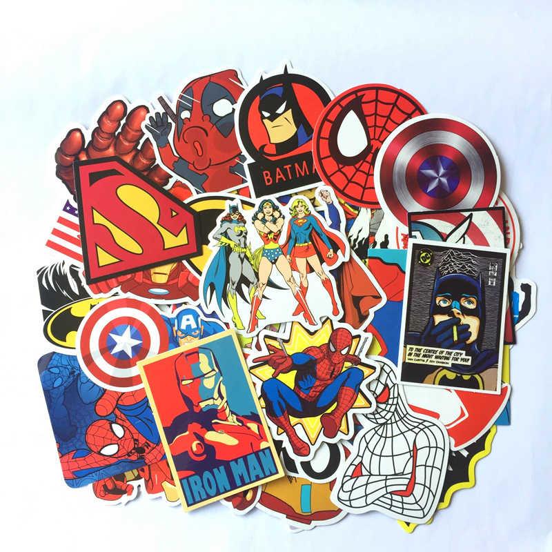 50 sztuk/paczka Cartoon nowe naklejki Anime Marvel walizka Graffiti naklejki na laptopa lodówka prezent dla dziecka