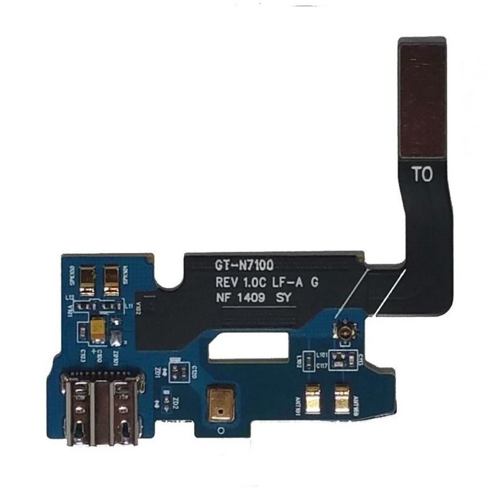 Multi-model Repair Part For <font><b>Samsung</b></font> Galaxy Note 2 N7100 N7105 I317 T889 I605 L900 R950 <font><b>E250S</b></font>/K Charge Charging Port Flex Cable image