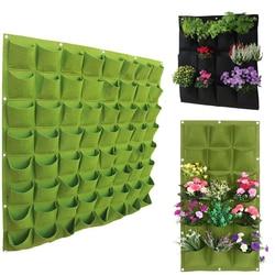 72 kieszenie kwiat ogrodowy torba do sadzenia czarna zielona ściana wisząca roślina warzywna rosną torby żywe Bonsai artykuły domowe Dropship|Torby ogrodnicze|Dom i ogród -
