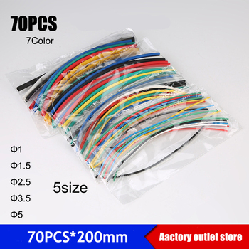цена на 70pcs*200mm/140pcs Heat shrink tube Thermoresistant tube heat shrink tubing Wrap Sleeve Assorted Mixed cable Sleeving Wrap Wire