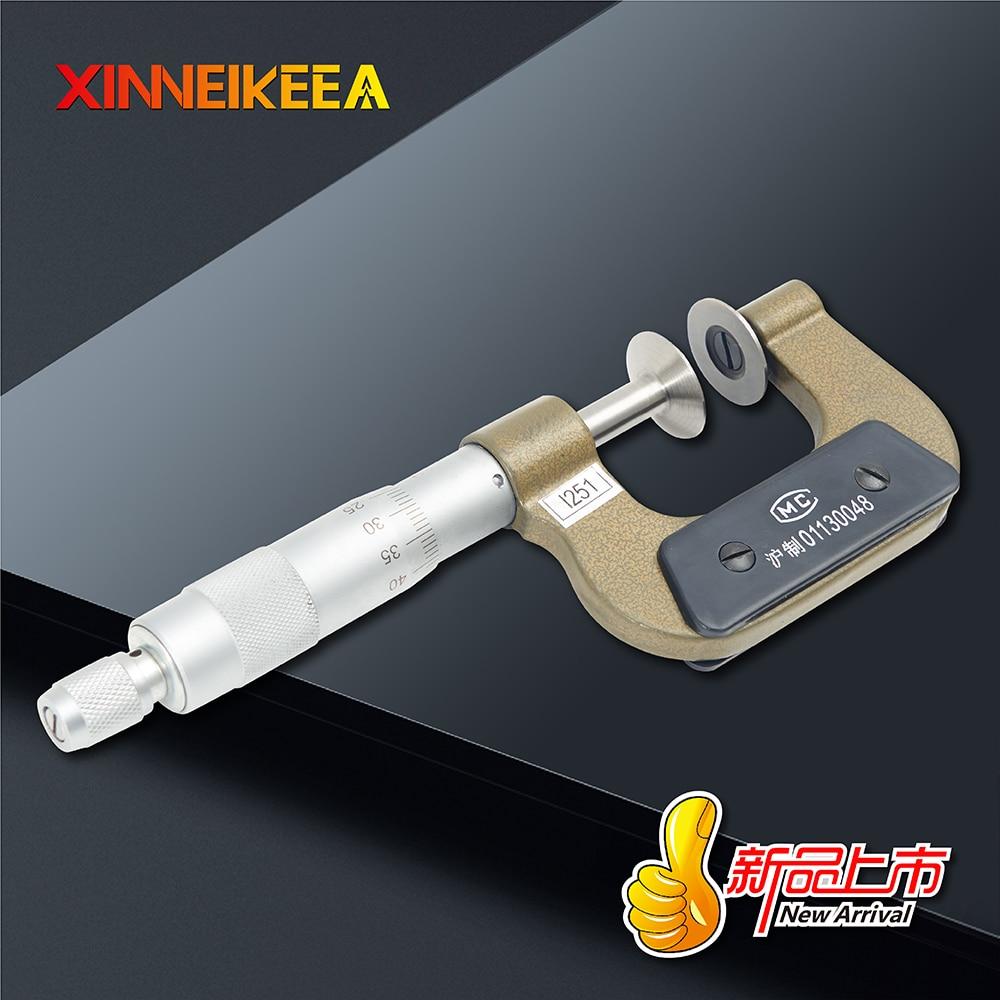 Микрометр для линий общественного права, высокопрочный, из нержавеющей стали, шестеренка для измерения, спецификация 0-25 25-50 50-75 мм