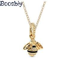 Boosbiy, новинка, модное милое ожерелье с кулоном «пчела», золотого цвета, ручная работа, тонкое ожерелье для женщин, рождественское ювелирное изделие, подарок