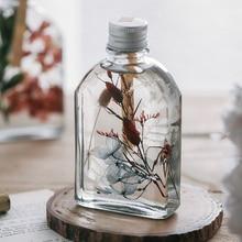 Artificial Flowers Immortal Flower Planktonic Vase Specimens Glass Vase Desktop Gift for Girls Love Gift  Fall Decorations цена и фото