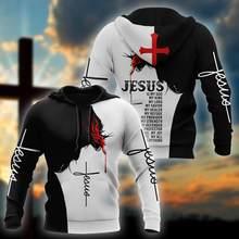 Outono marca hoodies jesus tatuagem 3d impresso moletom dos homens unisex streetwear zíper pulôver jaqueta casual fatos de treino kj0179