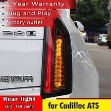 חדש רכב סטיילינג עבור קדילאק ATS פנסים אחוריים 2014 2017 עבור קדילאק ATS LED DRL + תור דינמי אות + בלם LED אור