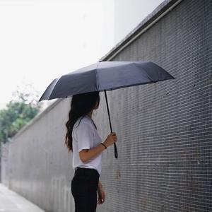 Image 2 - Xiaomi Katlanır otomatik şemsiye WD1 23 inç Güçlü rüzgar geçirmez Hiçbir film güneş koruyucu su geçirmez Anti UV güneş şemsiyesi