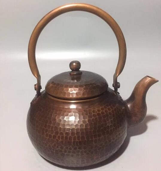 Chinese Hand-carved Copper Kettle, Teapot, Wine Kettle, Wealth Geomantic Decorative Gifts