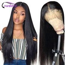 Kızılcık 360 dantel ön peruk malezya düz dantel ön İnsan saç peruk ön koparıp Hairline Remy 4x4 dantel kapatma peruk