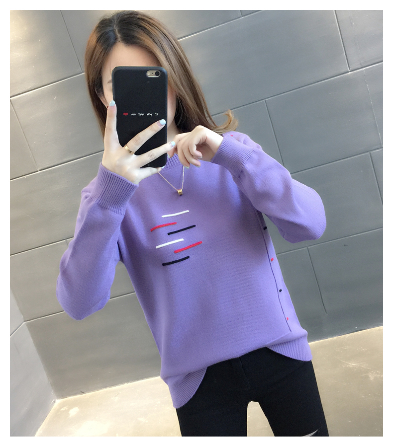 Sweaters women's 19 new fashion Korean loose autumn winter knitting bottoms wear Western clothes 19