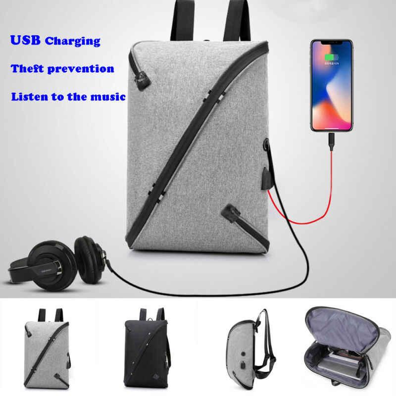 Erkek sırt çantaları iş not defteri Mochila su geçirmez sırt çantası USB çanta yükleme seyahat sırt çantası