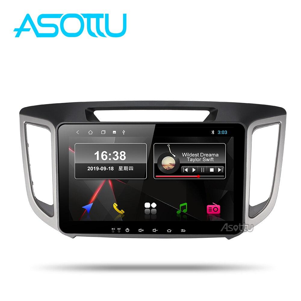 Asottu hy301 2g android 9.0 px30 reprodutor de dvd do carro 1024*600 para hyundai ix25 creta gps estéreo carro multimídia leitor dvd
