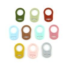 Детские зажим кольцо для престарелых Pacificer бутылочка для кормления Силиконовая кнопка для новорожденного Pacificer клип задобрить ребенка прорезыватель цепочка
