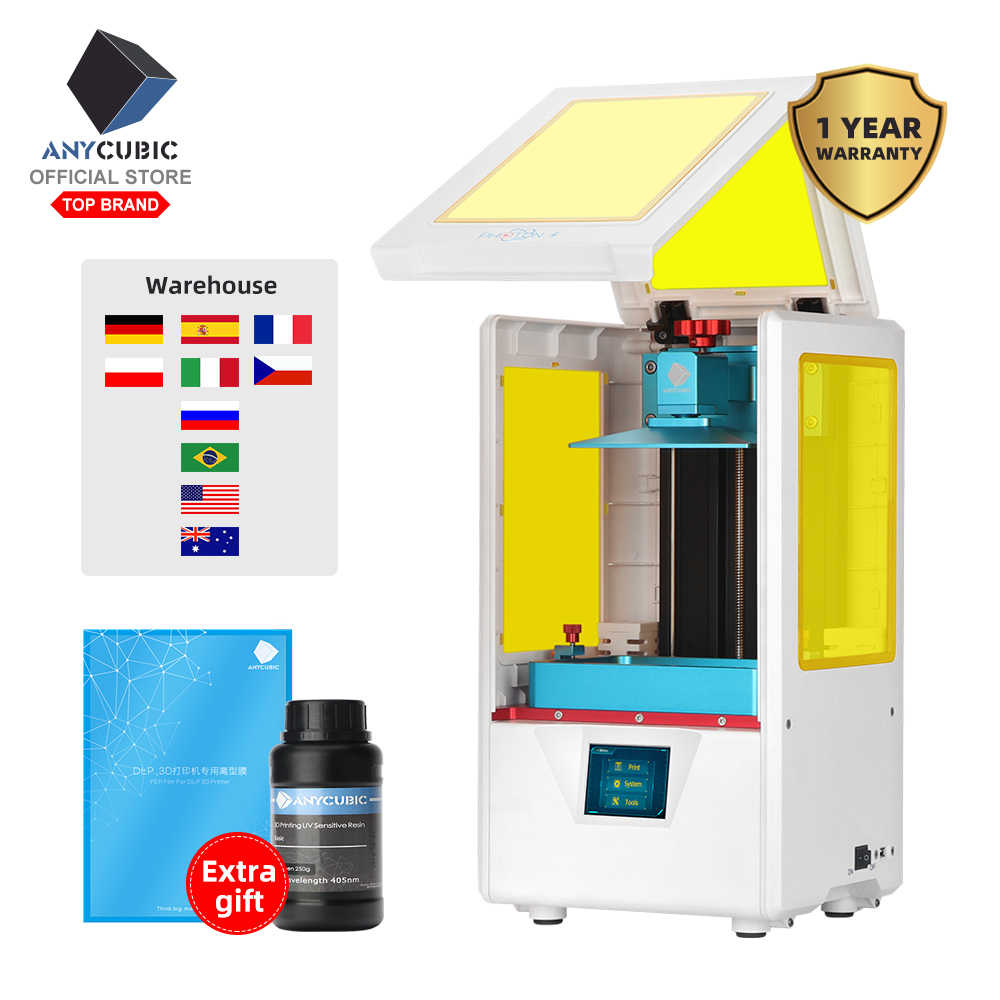 Anycubic Foton-S LCD 3D Printer Cepat Slice 405nm Matrix Sinar UV Dual Sumbu Z SLA 3d Printer Foton upgrade UV Modul