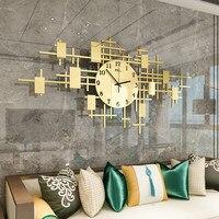 Nordic Fashion Wall Clock Metal Wall Watch Home Decor Living Room Bedroom Silent Clock Wall Modern Design Digital Wall Clocks