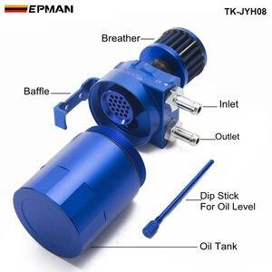 Image 4 - EPMAN Sport Universale Alluminio Oil Can Serbatoio Serbatoio 400ml + Filtro Sfiato TK JYH08