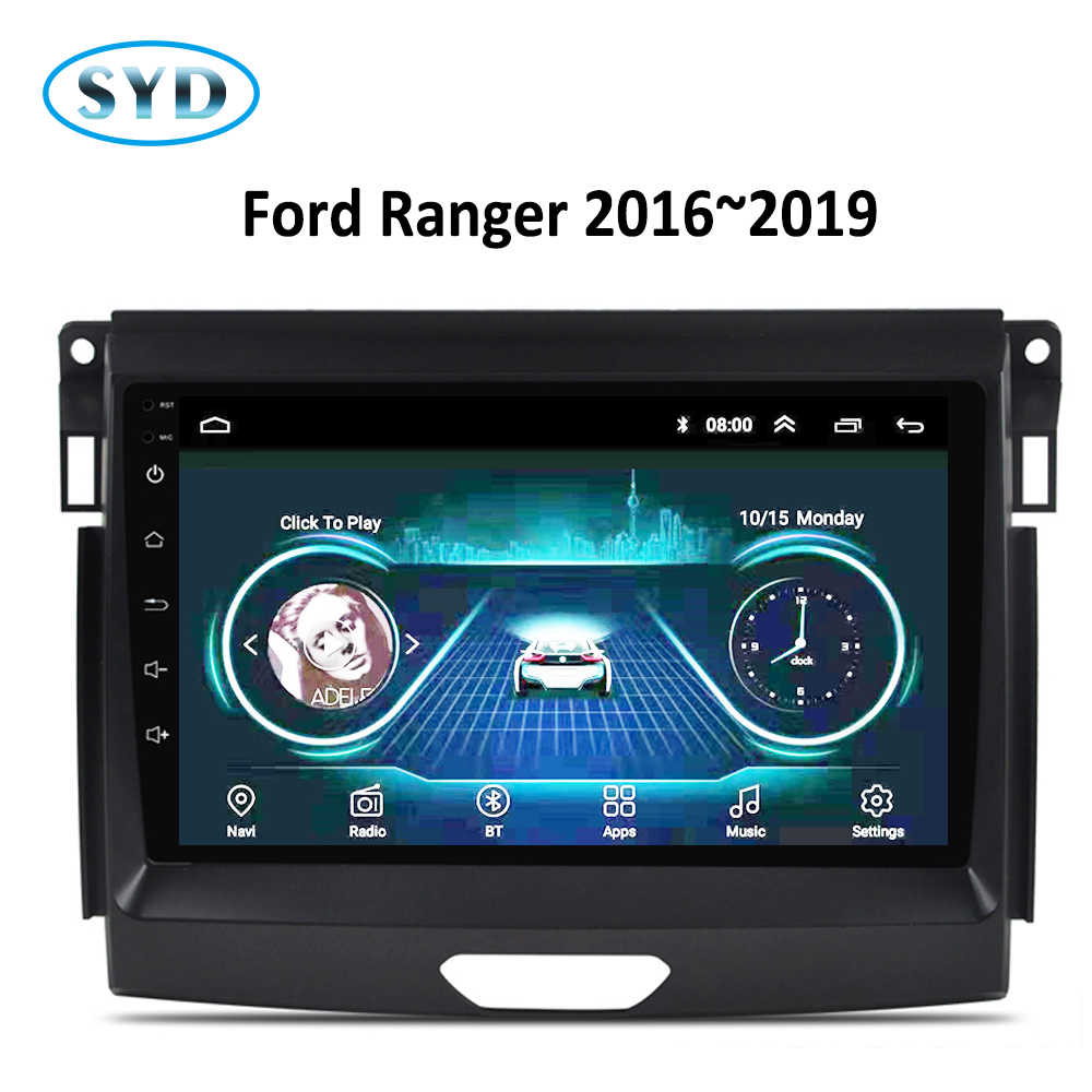 Radio samochodowe dla Ford Ranger 2016 2017 2018 2019 Android8.1 9 cal odtwarzacz DVD GPS system multimedialny audio stereo Carplay WIFI FM SWC