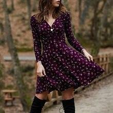 Robe d'été Vintage pour femmes, Manches longues, rétro, élégante, soirée, boîte de nuit, 2021