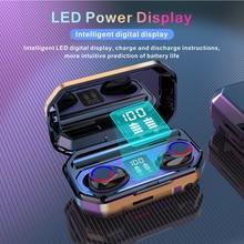 M12 TWS Bluetooth 5.0 Earphones 2000mAh Charging Box Wireless Headphone 9D Stereo Sports Waterproof