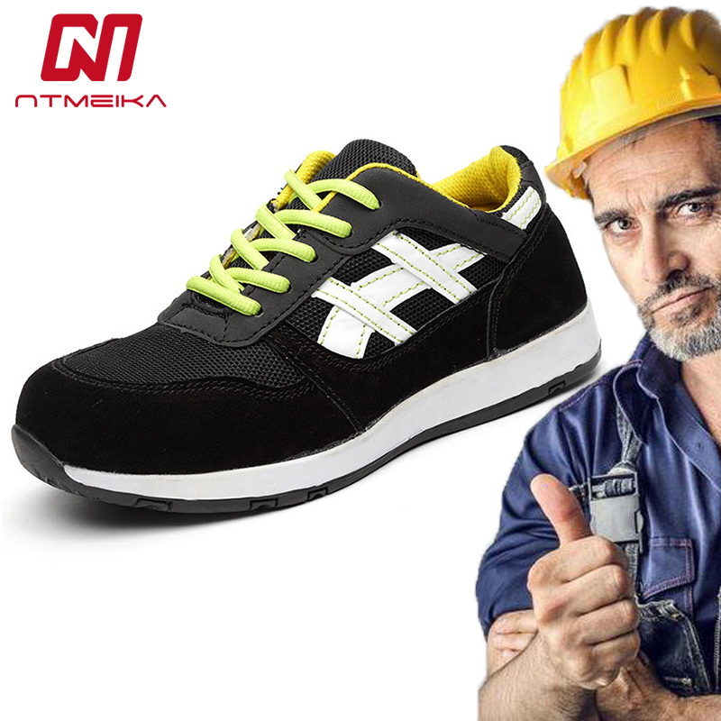 Men Work Safety Shoes Steel Toe Fashion Protective Footwear Breathable Men Safety Work Boots  Safety Toe