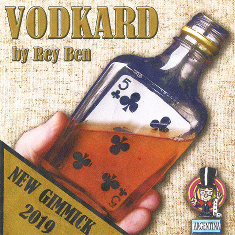 2019 New Arrivals Vodkard By Rey Ben (Gimmick And Online Instruction) Card Into Bottle Magic Tricks Illusions Fun Visual Magic