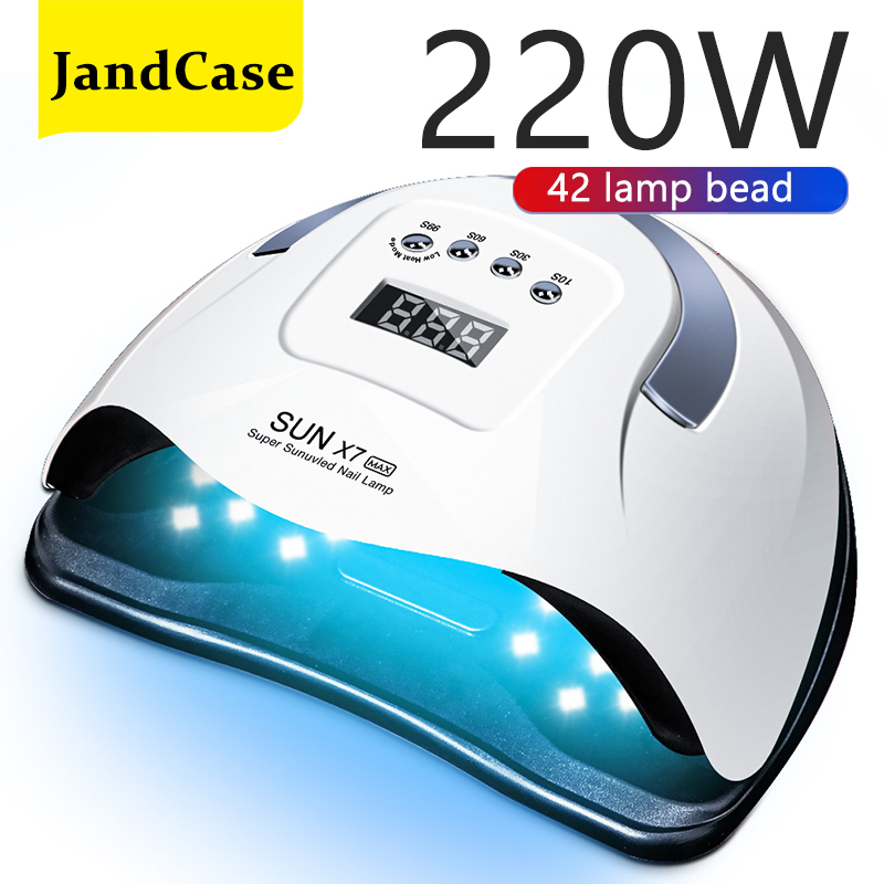 SUN X7 MAX UV LED Lamp For Nail Dryer Manicure Nail Lamp UV Gel Varnish Nail With Motion sensing professional lamp for manicure