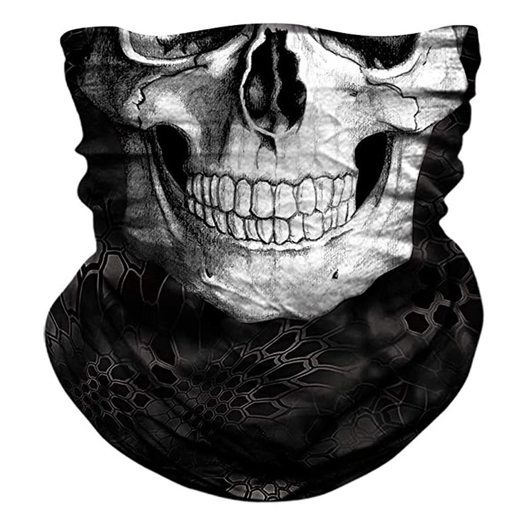 3d Seamless Neck Bandana Horror Demon Vampire Skull Facemask Mask Headband Headwear Headscarf Bicycle Zombie Scarf Bandanas(China)